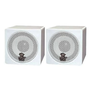 Pyleaudio® PCB3 WT Mini Cube Speaker, White