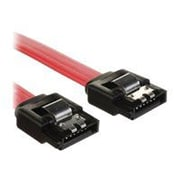 "4XEM™ 12"" Latching SATA 3.0 Cable, Red"