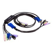 StarTech SV215MICUSBA USB VGA Cable KVM Switch With Audio, 2.6'