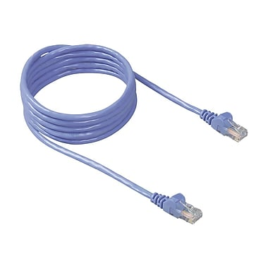 Belkin® A3L791 Cat5E 30' RJ45 M/M Patch Snagless Cable, Blue