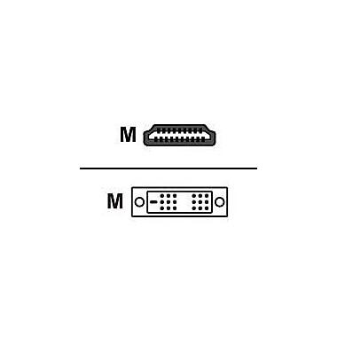 Black Box® 6.5' HDMI to DVI-D Male/Male Cable, Black