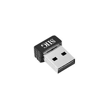 Siig® JU-WR0112-S1 Wireless-N Mini USB Wi-Fi Adapter, 150 Mbps