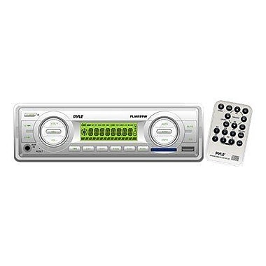 Pyle® PLMR89WW AM/FM-MPX IN-Dash Marine Flash Audio Player/Weatherband/USB & SD Card Function, White