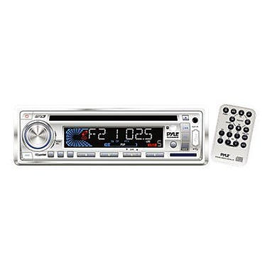 Pyle® PLCD36MRW AM/FM-MPX IN-Dash Marine CD/MP3 Player/Weatherband/USB & SD Card Function, White