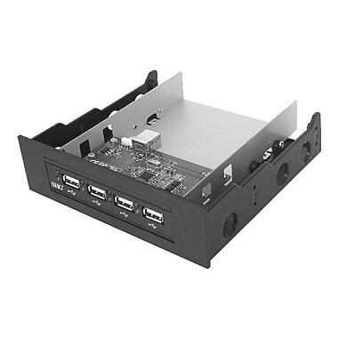 Siig® Black Hi-Speed USB 4-Port Bay Hub
