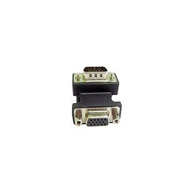 Calrad® 35-704 Male VGA To Female VGA Right Angle Adapter Up