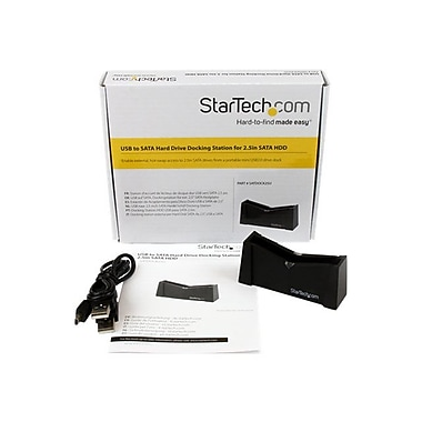 Startech.Com® SATDOCK25U USB to SATA External Hard Drive Docking Station For 2 1/2in. SATA HDD