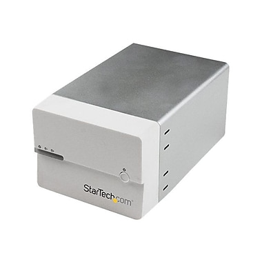 StarTech.com® 3 1/2in. Hard Drive External RAID Enclosure With UASP and Fan, White
