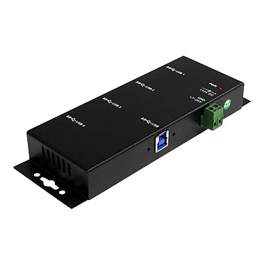 Startech.com® ST4300USBM Mountable Rugged Industrial Super Speed USB 3.0 Hub, 4 Ports