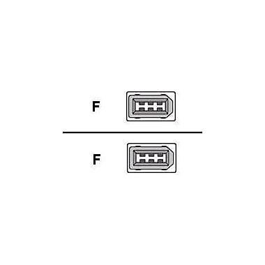 QVS CC1394-25 25' Data Transfer Firewire Cable, Black