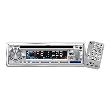 Pyle® PLCD3MR AM/FM-MPX In-Dash Marine CD/MP3 Player With USB & SD Card, White