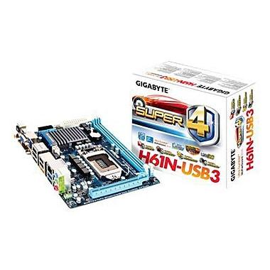 GIGABYTE™ Super4™ GA-H61N-USB3 Intel H61 Express Chipset Desktop Motherboard