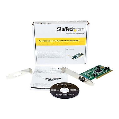 Startech.Com® PCI1S550 1 Port PCI Standard Profile Serial Adapter Card