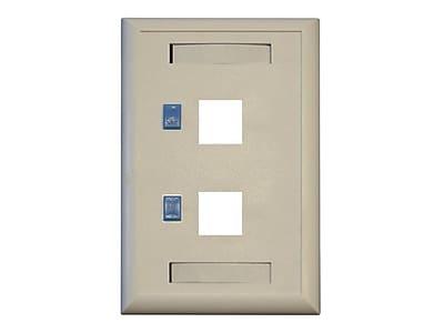 Tripp Lite N042 001 2 Port Keystone White Faceplate