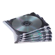 Fellowes® NEATO Slim Jewel Case, Clear/Black, 50/Pack