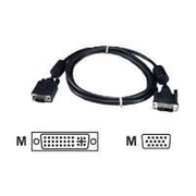 QVS® 15' VGA Male/DVI Male Flat Panel Video Adapter Cable, Black