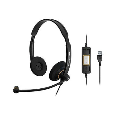 Sennheiser SC 60 USB ML 504547 Wired USB Office Headset, Black