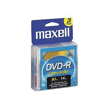 Maxell 1.4GB DVD-R, Jewel Case, 3/Pack