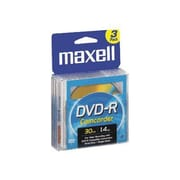Maxell 567622 1.4 GB Camcorder DVD-R Jewel Case, 3/Pack