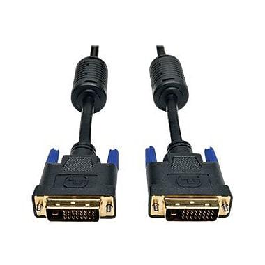 Tripp Lite® 6' DVI Male/Male Dual Link Digital TMDS Monitor Cable, Black
