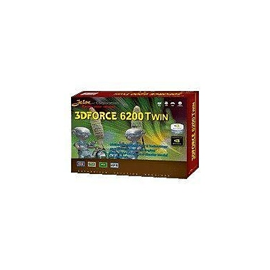 Jaton 3DFORCE6200TWIN GeForce 6200 GPU Graphic Card With NVIDIA Chipset, 256MB DDR SDRAM