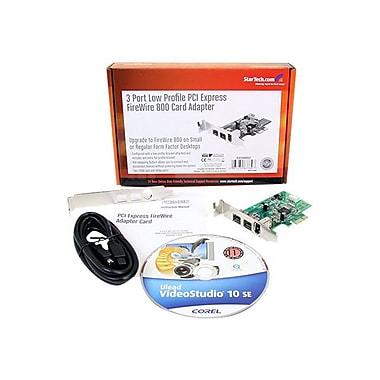 StarTech PEX1394B3LP 3 Port 2b 1a Low Profile 1394 PCI-Express FireWire Adapter Card