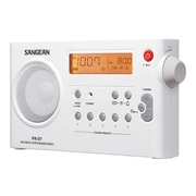 Sangean PR-D7 Digital Rechargeable AM/FM Radio, White
