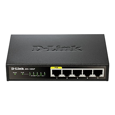 D-Link® Unmanaged Fast Ethernet Switch, 5 Port (DES-1005P)