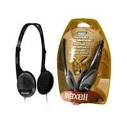 Maxell HP-700F Digital Stereo Headphone with Volume Control, Black/Gray