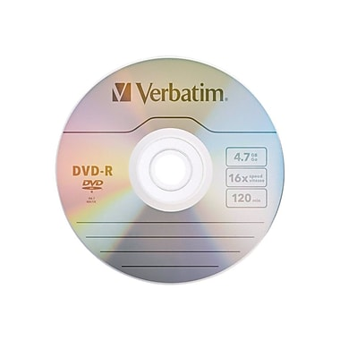 Verbatim® 4.7GB 16X AZO DVD-R, Spindle, 25/Pack