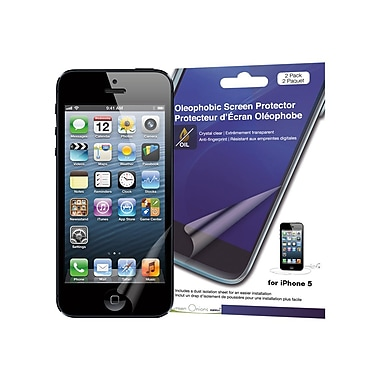 Green Onions Supply® Crystal Oleophobic Screen Protector For Apple iPhone 5, Clear