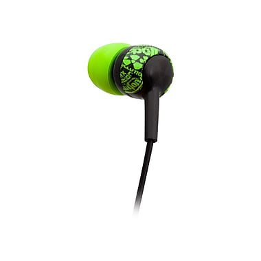 ifrogz® Zagg® Earpollution Graffit Crew Earbuds, Green