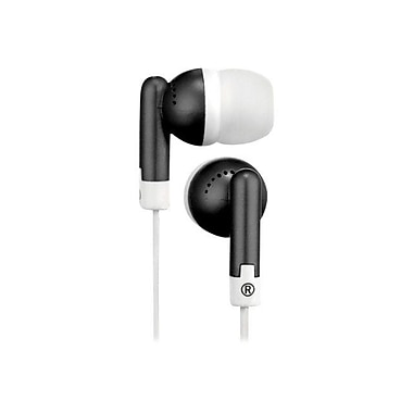 RCA HP61 Squish Stereo Earbud, Black