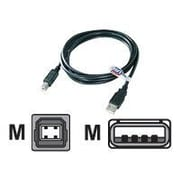 QVS 3' USB 2.0 Male to Male Data Transfer Cable, Black