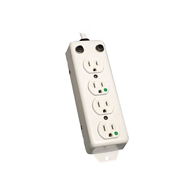 Tripp Lite PS-415-HG-OEM Medical Grade Power Strip With 15' White Cord, 4 Outlets