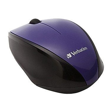 Verbatim 97994 USB Wireless Multi-Trac Blue LED Optical Mouse, Purple
