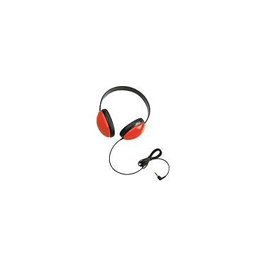 Califone Ergoguys 2800-RD Children's Stereo Headphone, Red