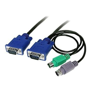 Startech.com® SVECON 3-in-1 Ultra Thin PS/2 KVM Cable, 15'(L)