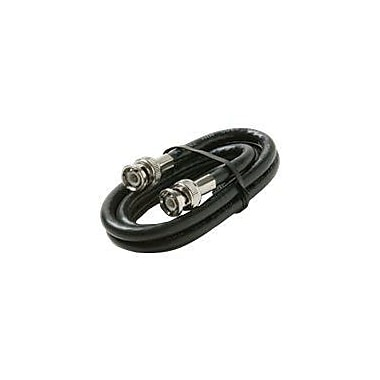STEREN 205-582BK 6' RG6 BNC Coaxial Cable, Black