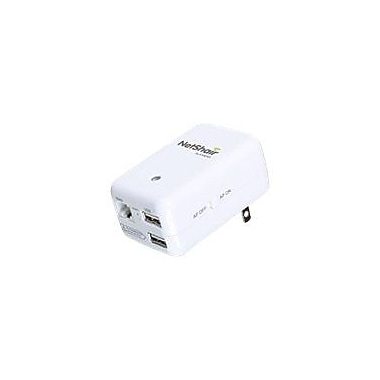Iogear GWRH1 NetShair Link Portable Wi-Fi Router and USB Media Hub, 2.40 GHz