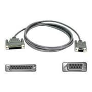 Belkin® 6' DB-25 Female to DB-9 Female AT Serial Adapter Cable, Gray