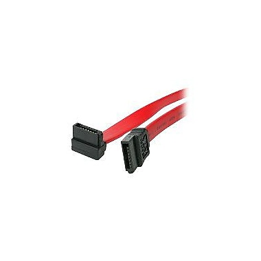 4XEM™ 18in. Standard to Right Angle SATA Female/Female Cable, Red