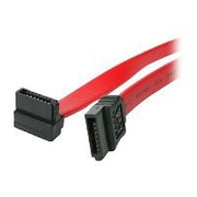 """4XEM™ 18"""" Standard to Right Angle SATA Female/Female Cable, Red"""