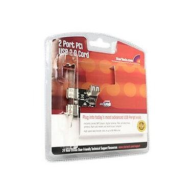 Startech.com® PCI220USBLP 3 Port PCI Low Profile High Speed USB 2.0 Adapter Card