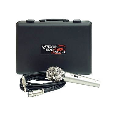 Pyleaudio PDMIK-4 Wired Dynamic Microphone, Silver