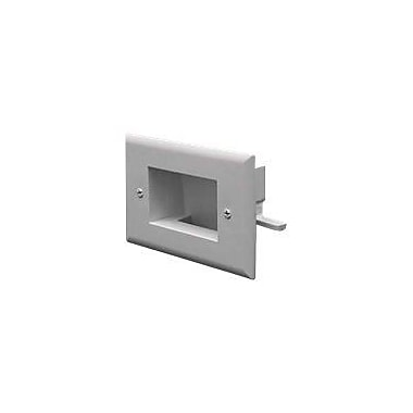 Datacomm™ 1 Socket Easy Mount Low Voltage Cable Faceplate, White