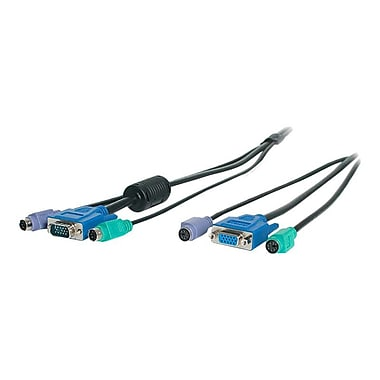 Startech.com® 3-in-1 PS/2 KVM Extension Cable, 25'(L)