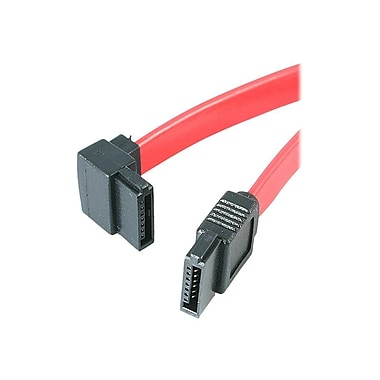 4XEM™ 18in. Standard to Left Angle SATA Female/Female Cable, Red