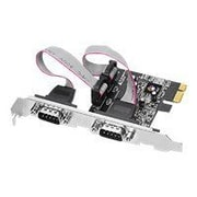 Siig® JJ-E02111-S1 2 Port RS232 Serial Adapter With 16950 UART
