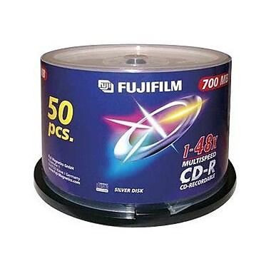 Fujifilm 700MB White Inkjet Printable CD-R, Spindle, 50/Pack